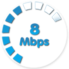Home uncapped WDSL 8Mbps
